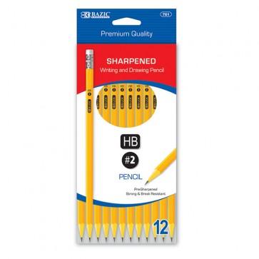 Pre-Sharpened #2 Premium Yellow Pencil (12/Pack)